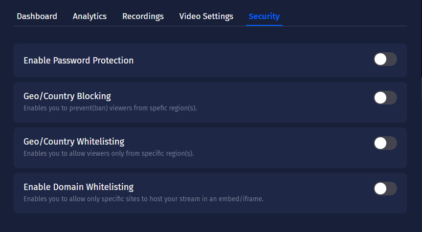 Stream with Security